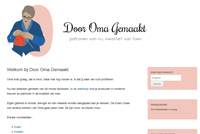 Website screenshot Door Oma Gemaakt